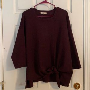 Plum front tie knit blouse bought from Dress Barn